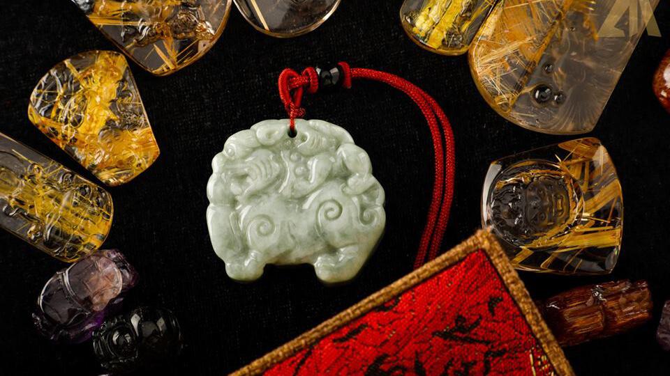 Mặt Phật Bất Động Minh Vương - Thạch Anh Tóc Vàng #MTV-0603-06 1