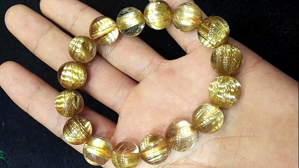 Mặt Phật Đại Thế Chí Bồ Tát - Thạch Anh Tóc Vàng #MTVD0057 4