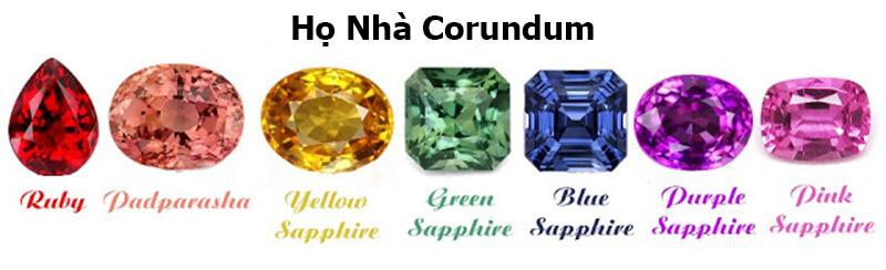 Ruby cũng giống Sapphire thuộc họ nhà Corundum.