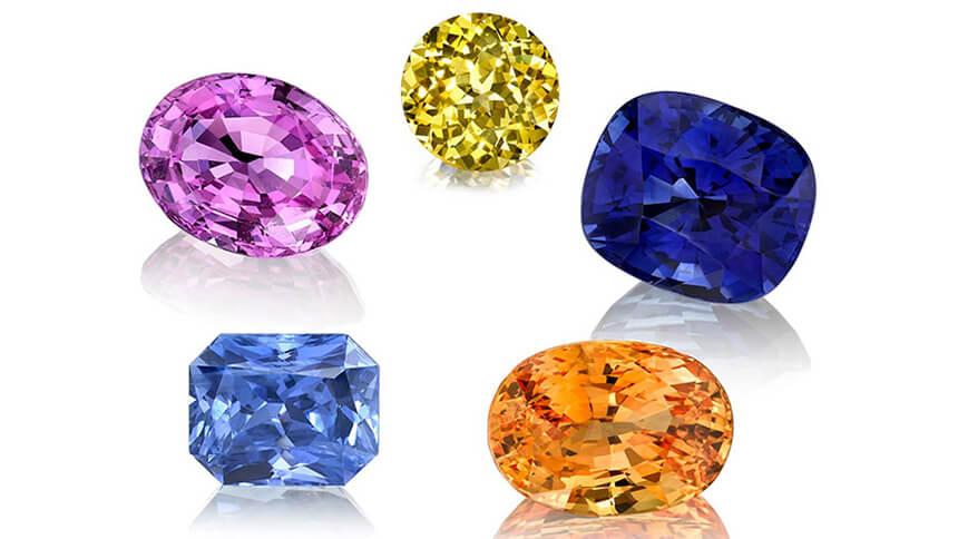 Những viên đá Sapphire được nhiều người mến mộ.
