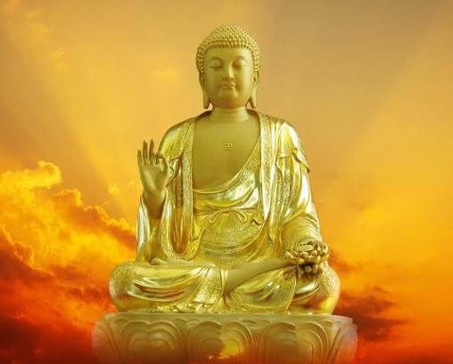 A Di Đà được thế gian hình tượng hóa thành vị Phật của thế giới Tây phương cực lạc, nơi chỉ có vui mà không có khổ