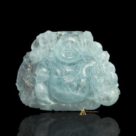 Mặt Phật Di Lặc Aquamarine #MAQ0001