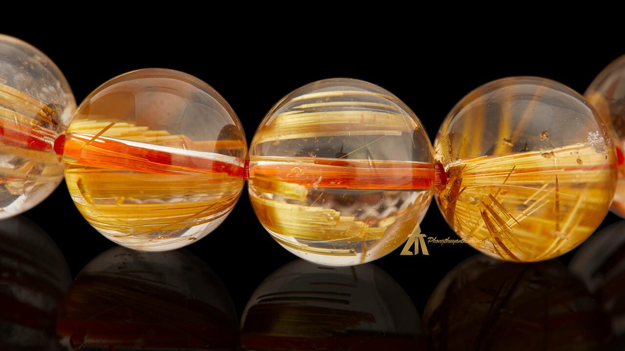 Thạch Anh Tóc Vàng - Vòng tay Phong Thủy