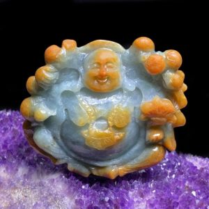 Mặt Phật Di Lặc Cẩm Thạch Huyết Chuẩn A #MCT-A600-001