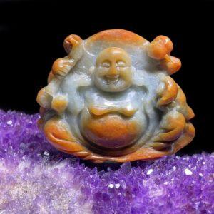 Mặt Phật Di Lặc Cẩm Thạch Huyết Chuẩn A #MCT-A600-002