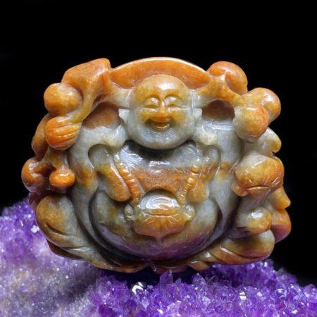 Mặt Phật Di Lặc Cẩm Thạch Huyết Chuẩn A #MCT-A600-003