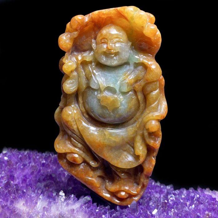 Mặt Phật Di Lặc Cẩm Thạch Huyết Chuẩn A #MCT-A600-004
