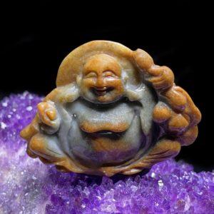 Mặt Phật Di Lặc Cẩm Thạch Huyết Chuẩn A #MCT-A600-005
