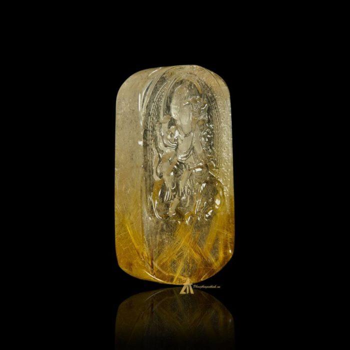 Mặt Phật Phổ Hiền Bồ Tát - Tóc vàng bã mía #MTV0181