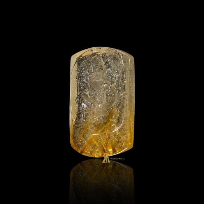 Mặt Phật Hư Không Tạng Bồ Tát - Tóc vàng bã mía #MTV0185