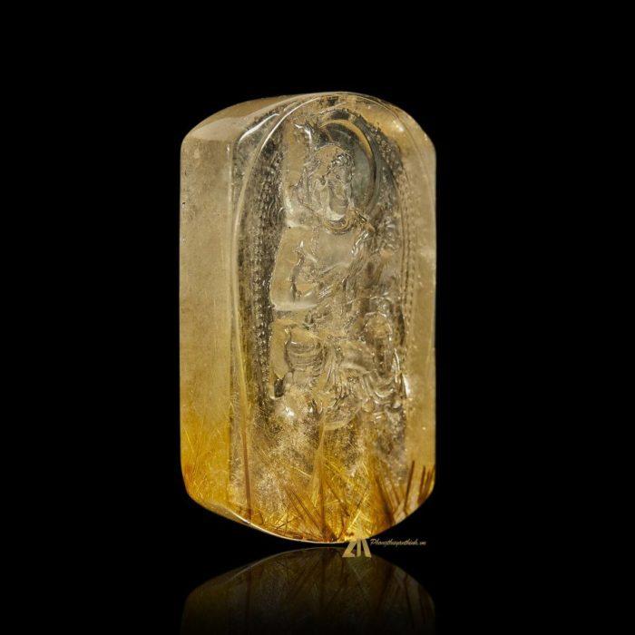 Mặt Phật Bất Động Minh Vương - Tóc vàng bã mía #MTV0187