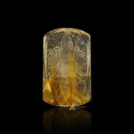 Mặt Phật Thiên Thủ Thiên Nhãn - Tóc vàng bã mía #MTV0189
