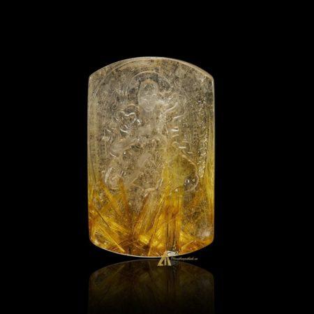 Mặt Phật Phổ Hiền Bồ Tát - Tóc vàng bã mía #MTV0190