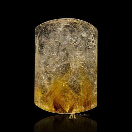 Mặt Phật Phổ Hiền Bồ Tát - Tóc vàng bã mía #MTV0192