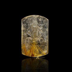Mặt Phật Hư Không Tạng Bồ Tát - Tóc vàng bã mía #MTV0194