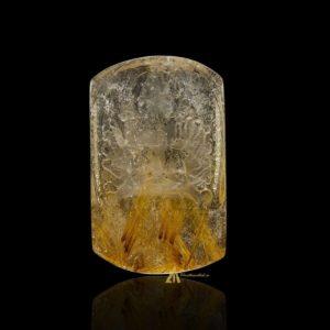 Mặt Phật Thiên Thủ Thiên Nhãn - Tóc vàng bã mía #MTV0195
