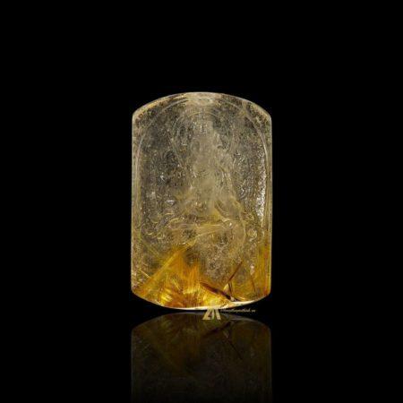 Mặt Phật Văn Thù Bồ Tát - Tóc vàng bã mía #MTV0196
