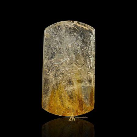 Mặt Phật Văn Thù Bồ Tát - Tóc vàng bã mía #MTV0197