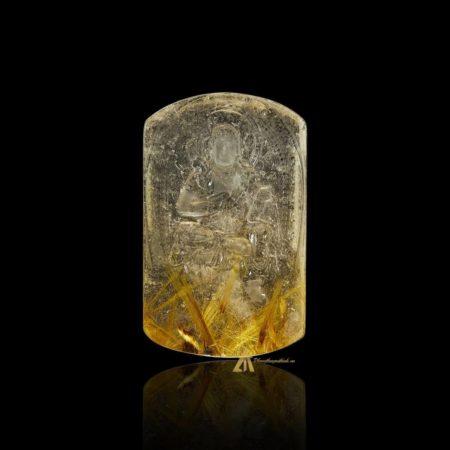 Mặt Phật Bất Động Minh Vương - Tóc vàng bã mía #MTV0198