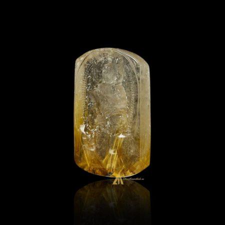 Mặt Phật Bất Động Minh Vương - Tóc vàng bã mía #MTV0200