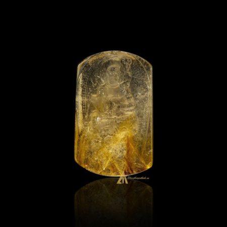 Mặt Phật Bất Động Minh Vương - Tóc vàng bã mía #MTV0201