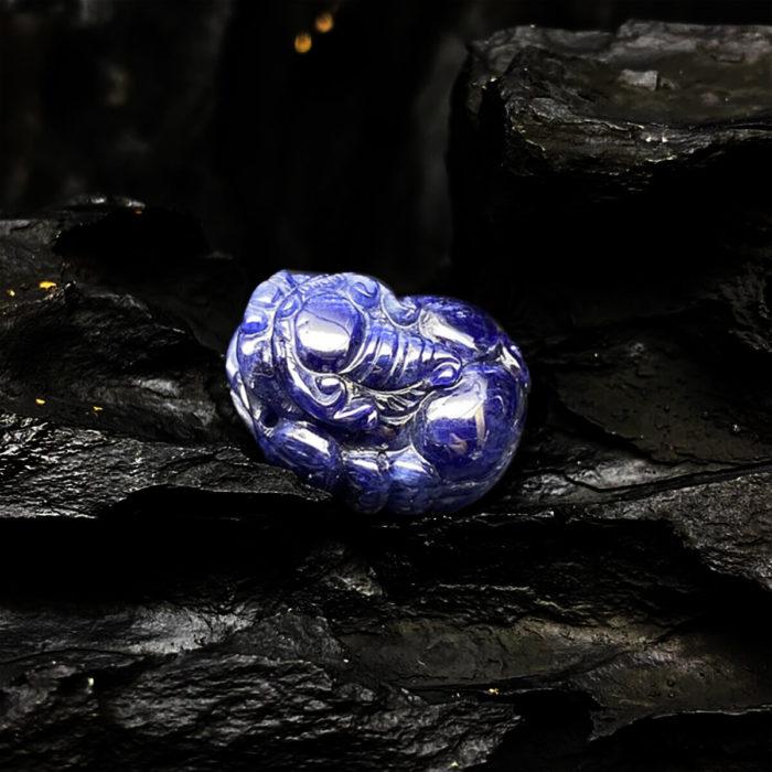 Mặt Tỳ Hưu Đá Sapphire Tự Nhiên #MSP-0404-02 2