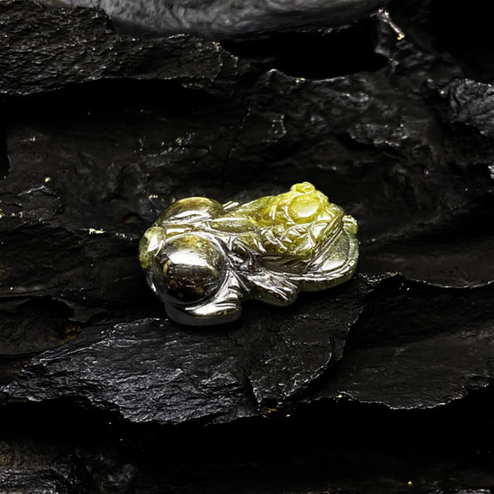 Mặt Tỳ Hưu Đá Sapphire Tự Nhiên #MSP-0406-03 1