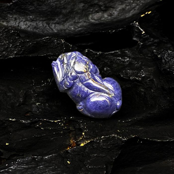 Mặt Tỳ Hưu Đá Sapphire Tự Nhiên #MSP-0406-04 3