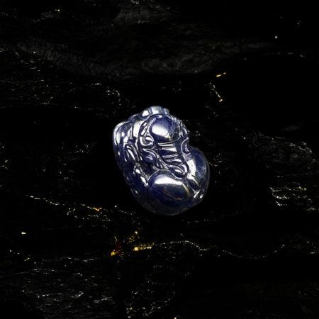 Mặt Tỳ Hưu Đá Sapphire Tự Nhiên #MSP-0406-08 5