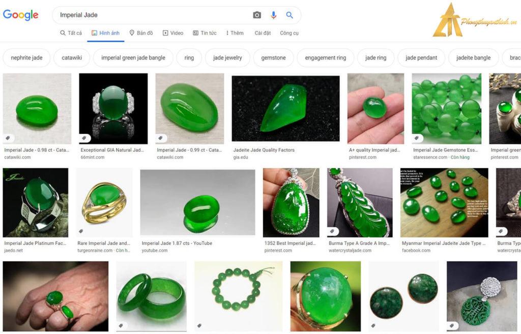 Truy vấn tìm kiếm trên Google Seach Ngọc Phỉ Thúy (tiếng Anh)