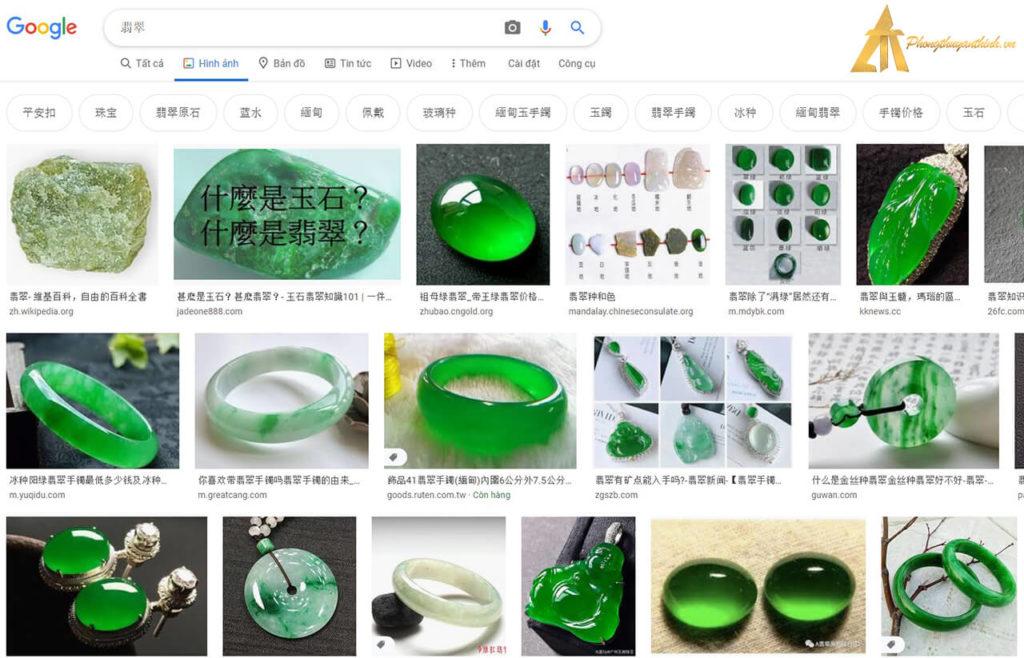 Truy vấn tìm kiếm trên Google Seach Ngọc Phỉ Thúy (tiếng Hán)