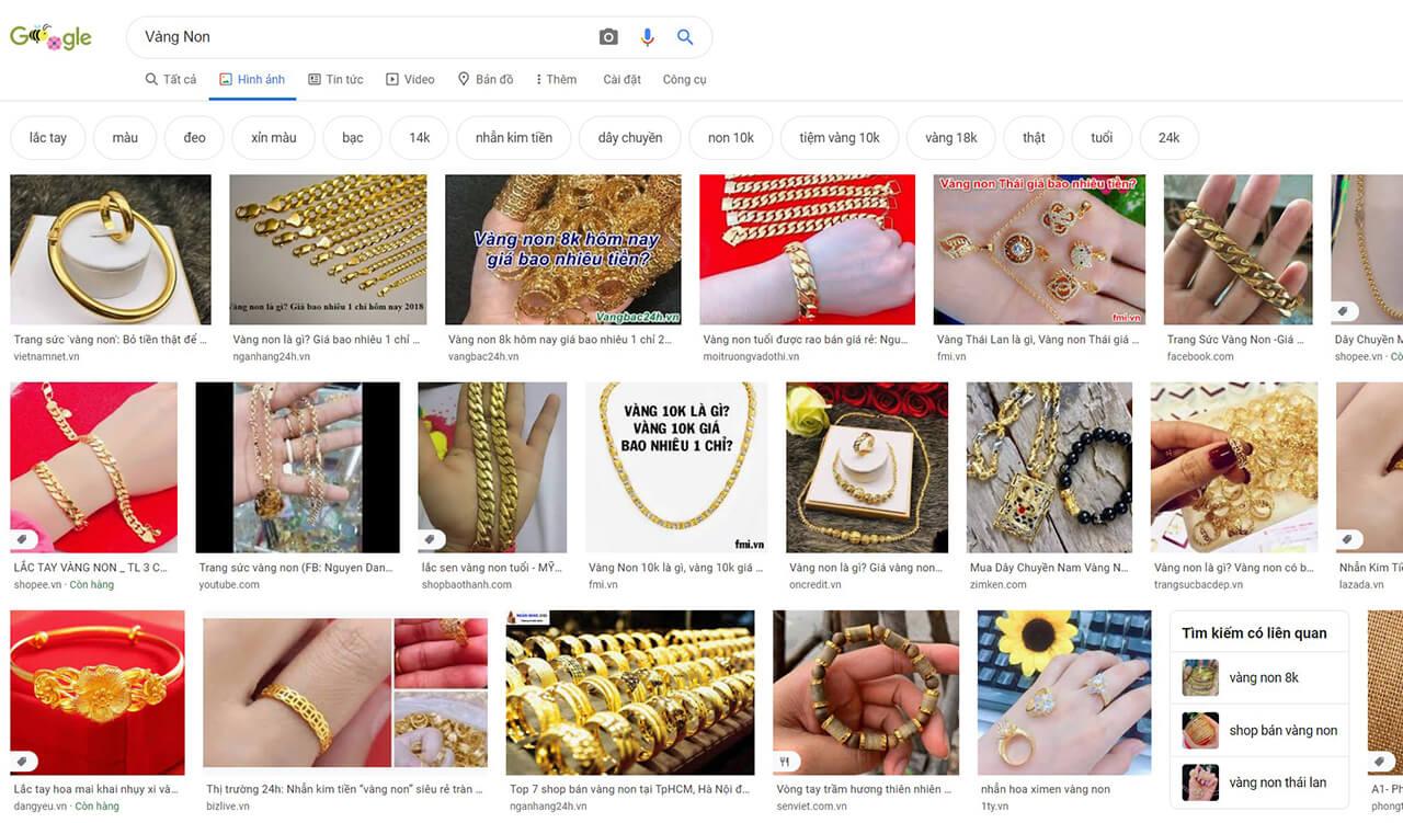 Vàng Non Kết Quả Tìm Kiếm Google