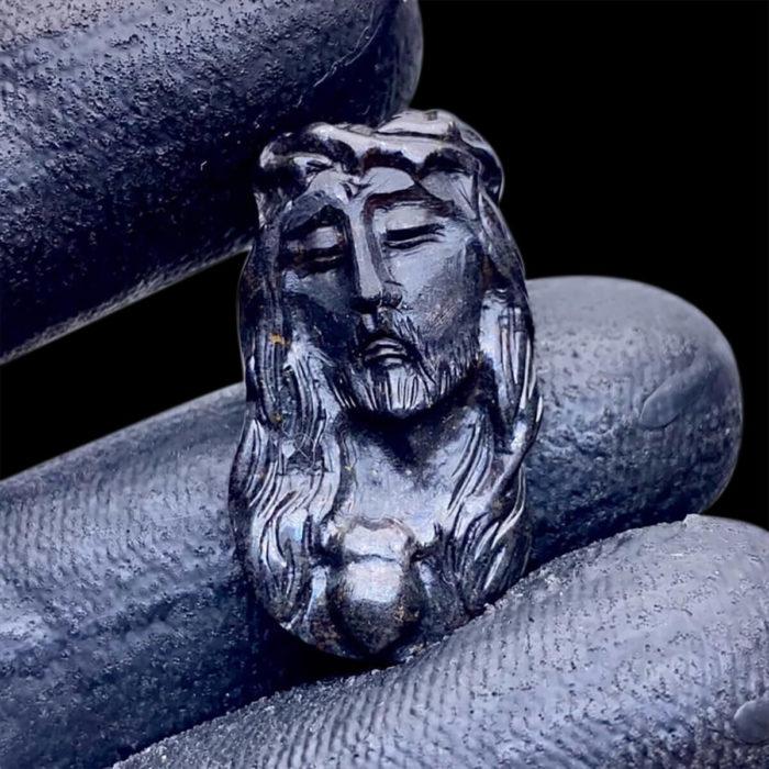 Mặt Chúa Giê Su Sapphire Đen #MSP-0807-02 1
