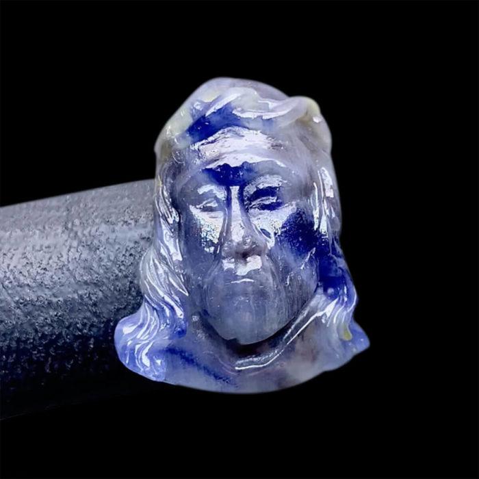 Mặt Chúa Giê Su Sapphire Lục Yên #MSP-0807-08 1