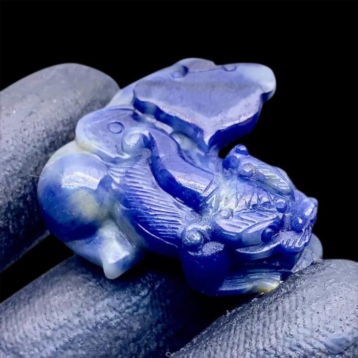 Mặt Tỳ Hưu Đá Sapphire Lục Yên #MSP-0808-01 1