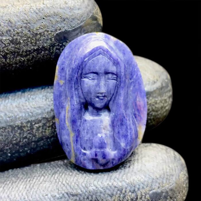 Mặt Đức Mẹ Maria Sapphire Xanh Hero - Yên Bái #MSP-0820-02 1
