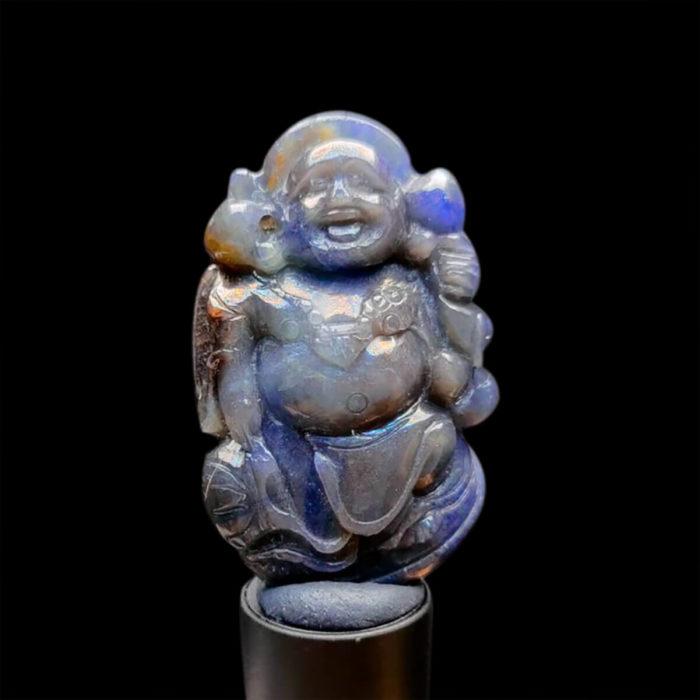 Mặt Phật Di Lặc Sapphire Xanh Xám - Tự Nhiên #MSP-0923-09 1