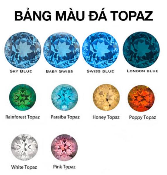 Bảng Màu Đá Topaz