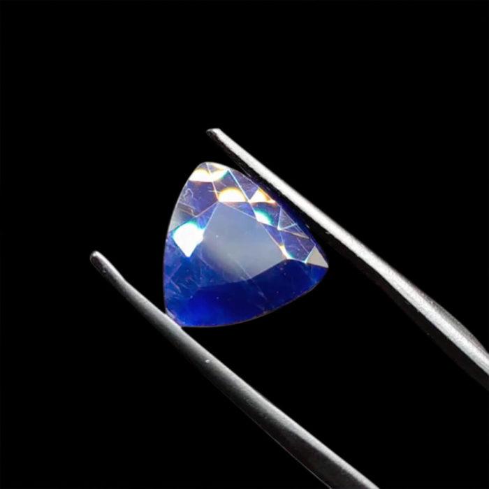 Mặt Nhẫn Đá Sapphire Xanh Hero Tự Nhiên #MSP-0923-13 1