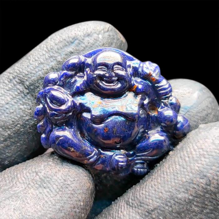 Mặt Phật Di Lặc Sapphire Xanh Hero - Tự Nhiên #MSP-1004-10 1