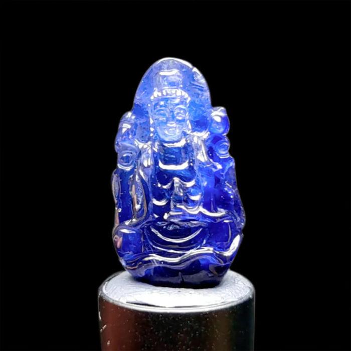 Mặt Quan Thế Âm Bồ Tát Sapphire Xanh Hero #MSP-1004-11 1