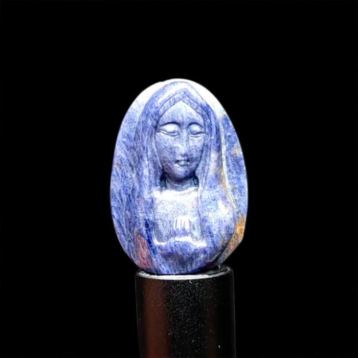 Mặt Đức Mẹ Maria Sapphire Xanh Hero - Tự Nhiên #MSP-1004-13 1
