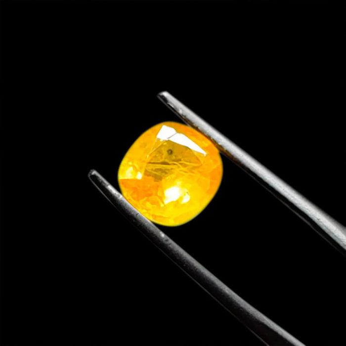 Mặt Nhẫn Đá Sapphire Vàng - Tự Nhiên #MSP-1005-03 1