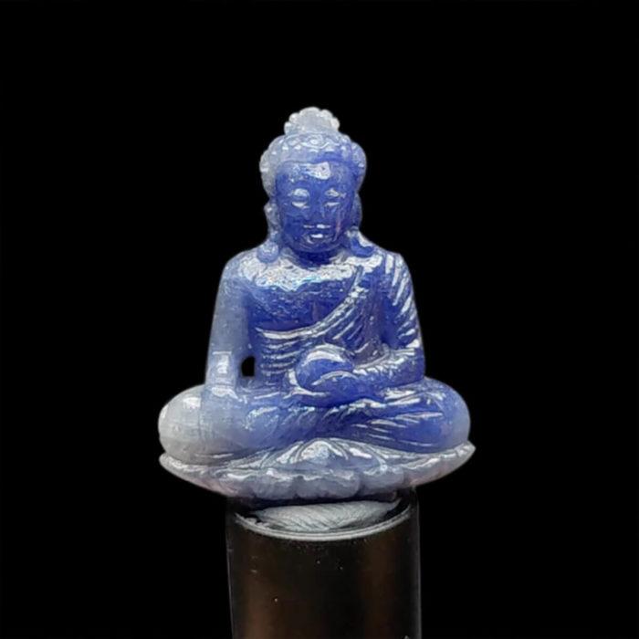 Mặt Phật A Di Đà Sapphire Xanh Hero Lục Yên #MSP-1013-31 1