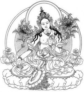 Đức Tara Xanh Hóa Thân Phối Ngẫu Vajrakilaya 274x300