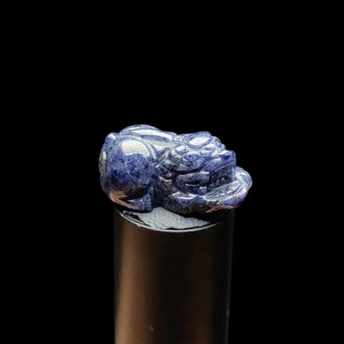 Mặt Tỳ Hưu Đá Sapphire Xanh Hero #MSP-1021-17 1