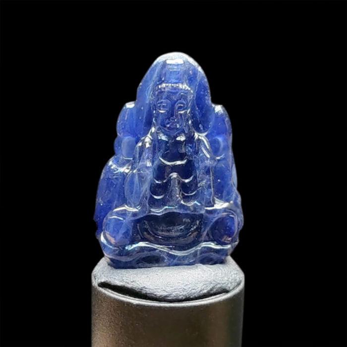 Mặt Quan Thế Âm Bồ Tát Sapphire Xanh Hero #MSP-1024-23 1