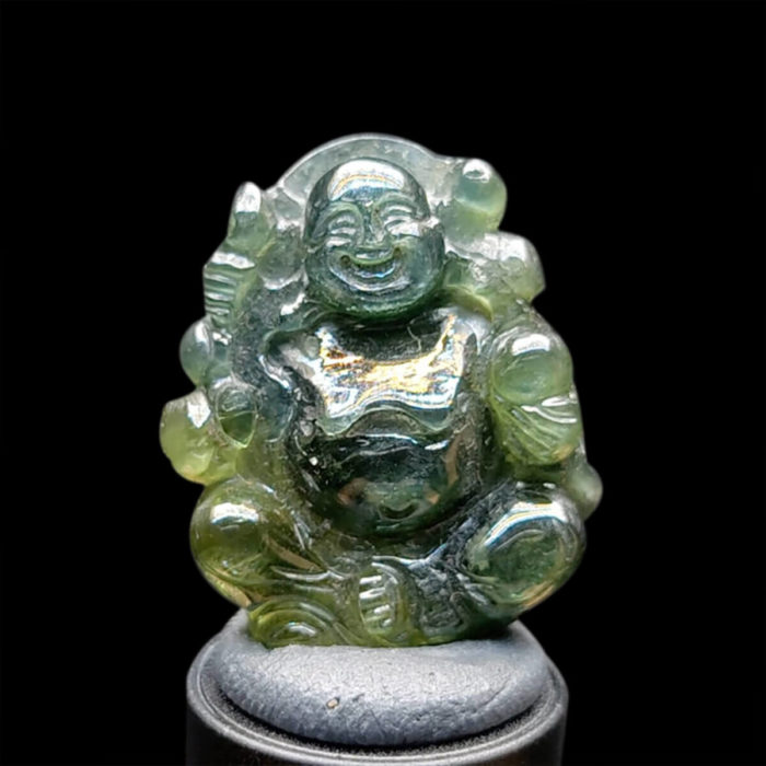 Mặt Phật Di Lặc Sapphire Xanh #MSP-1024-27 1