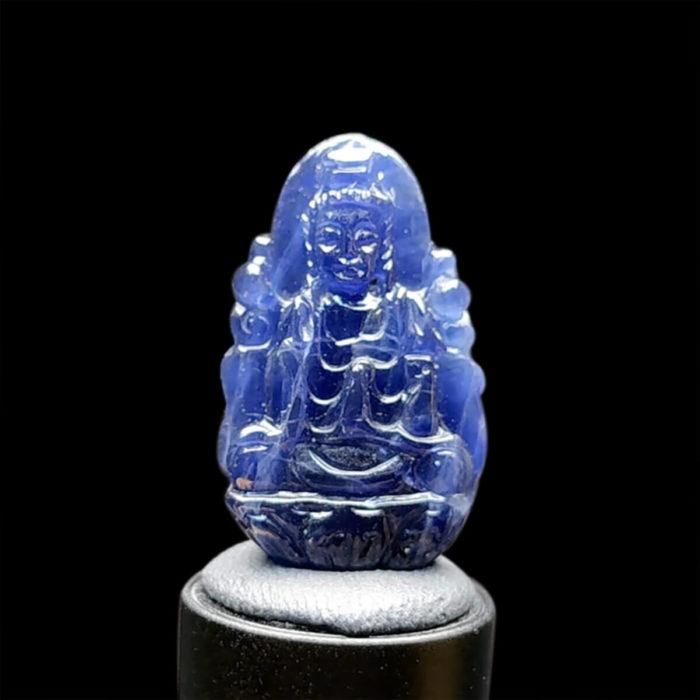 Mặt Quan Thế Âm Bồ Tát Sapphire Xanh Hero #MSP-1024-35 1