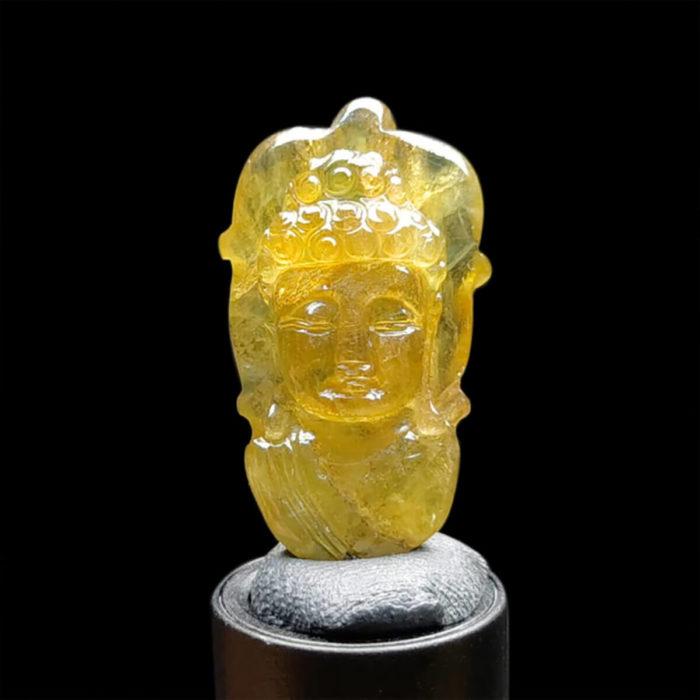 Mặt Phật A Di Đà Sapphire Vàng #MSP-1024-37 1
